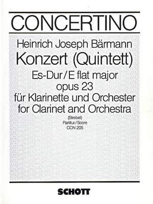 Baermann, H J: Concerto (Quintett) Eb major op. 23