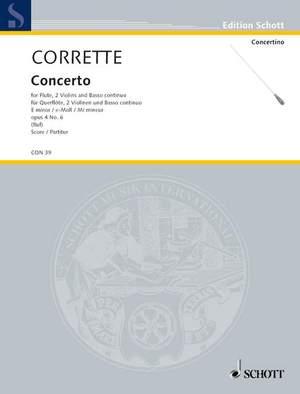 Corrette, M: Concerto E minor op. 4/6