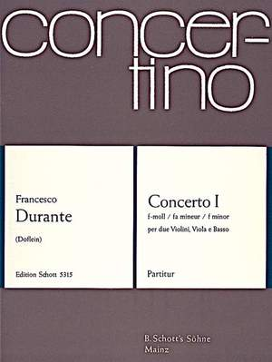 Durante, F: Concerto I F Minor Product Image