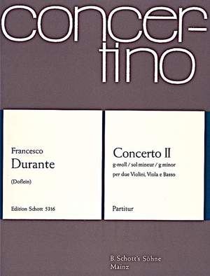 Durante, F: Concerto II G Minor Product Image