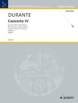 Durante, F: Concerto IV E Minor