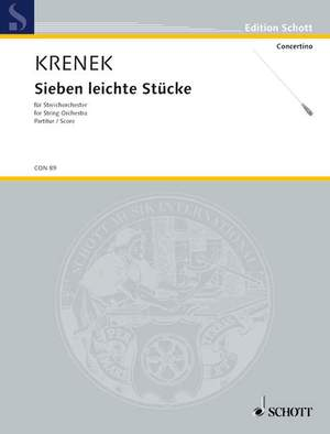 Krenek, E: Sieben leichte Stücke Product Image