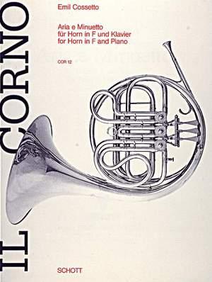 Cossetto, E: Aria and Minuet