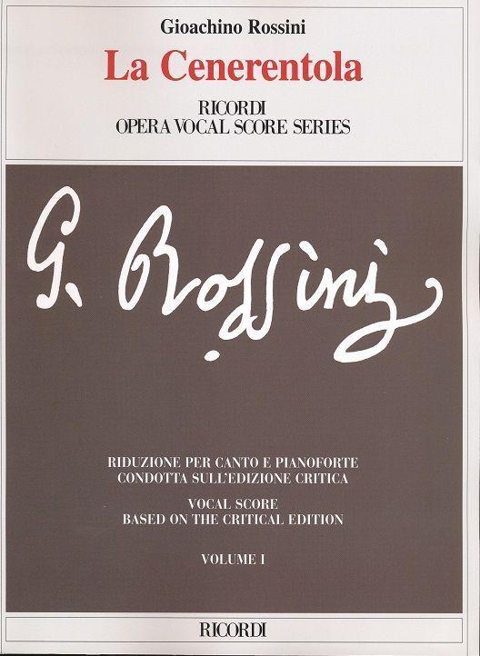 Vocal Score English Language Edition La Cenerentola Italian