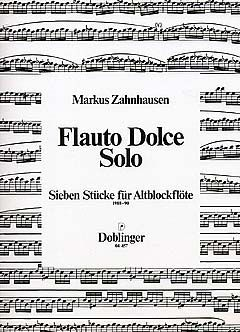 Markus Zahnhausen: Flauto dolce solo