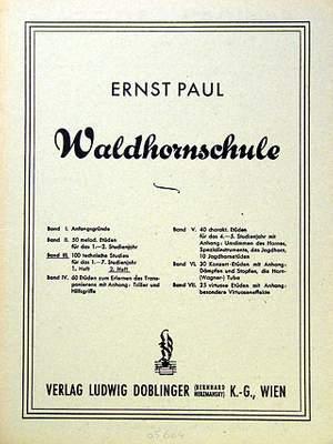 Ernst Paul: Waldhornschule Band 3 Heft 2