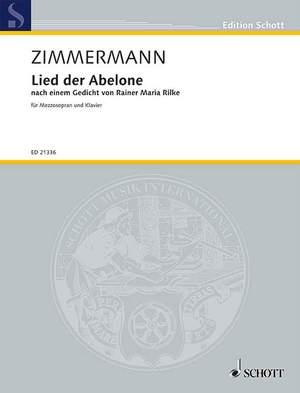 Zimmermann, B A: Lied der Abelone