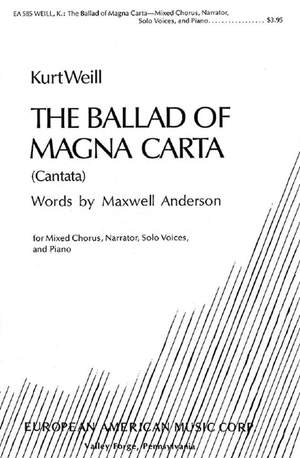 Weill, K: The Ballad of Magna Carta Product Image