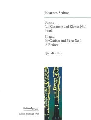 Brahms, J: Sonata No. 1 in F minor Op. 120/1 op. 120/1