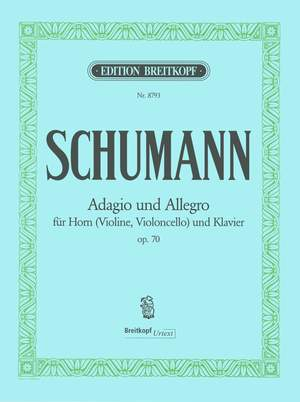 Schumann, R: Adagio and Allegro in Ab major op. 70 op.70 Product Image