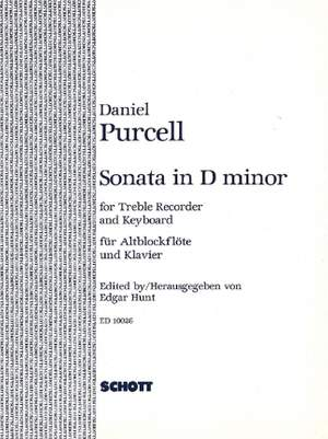 Purcell, D: Sonata in D minor
