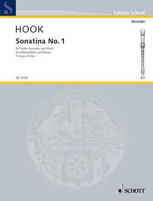 Hook, J: Sonatina No. 1 F major Product Image