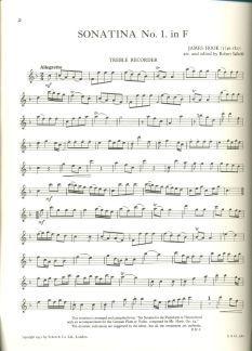 Hook, J: Sonatina No. 1 F major