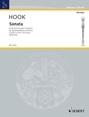 Hook, J: Sonata G Major Product Image