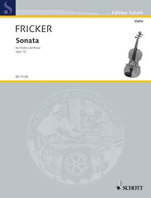 Fricker, P R: Sonata op. 12