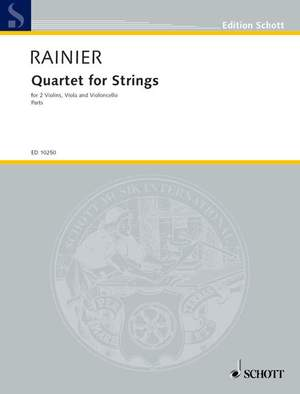 Rainier, P: Quartet for Strings
