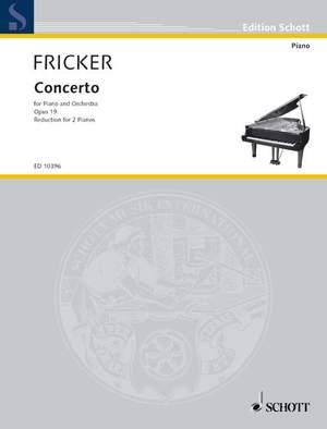 Fricker, P R: Concerto op. 19