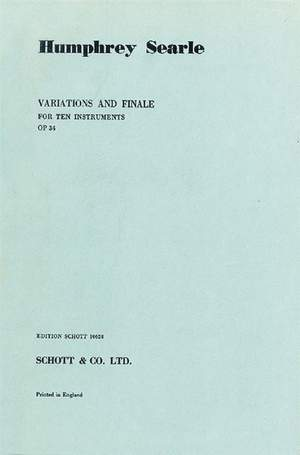 Searle, H: Variations and Finale op. 34