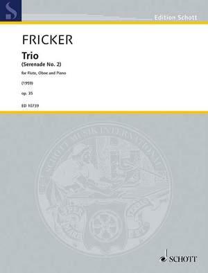 Fricker, P R: Trio op. 35