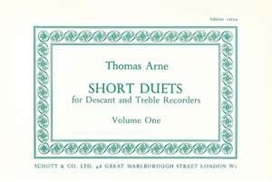 Arne, T A: Short Duets Vol. 1