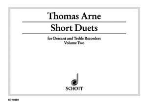 Arne, T A: Short Duets Vol. 2