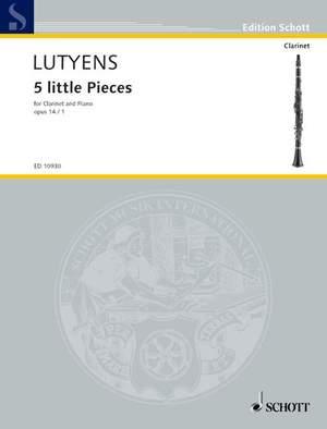 Lutyens, E: 5 little Pieces op. 14/1