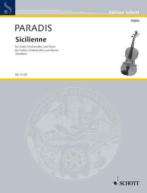 Paradis, M T v: Sicilienne