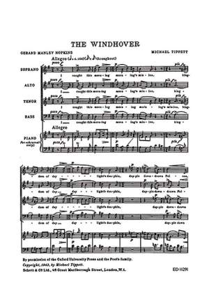Tippett, M: The Windhover