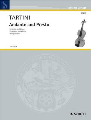 Tartini, G: Andante and Presto Product Image