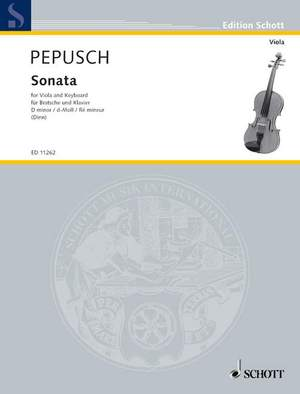 Pepusch, J C: Sonata in D Minor