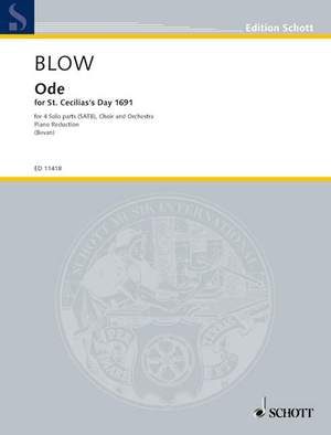 Blow, J: Ode for St. Cecilia's Day
