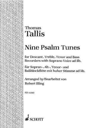 Tallis, T: Nine Psalm Tunes Product Image