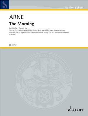 Arne, T A: Cantata The Morning RV 13