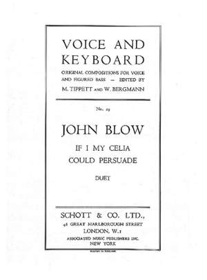 Blow, J: If I my Celia could persuade