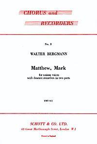 Bergmann, W: Matthew, Mark
