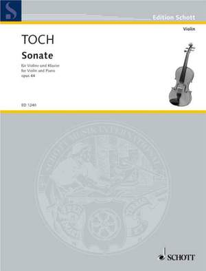 Toch, E: Sonata op. 44