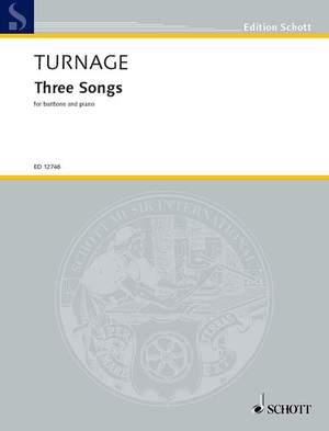 Turnage, M: Three Animal Songs