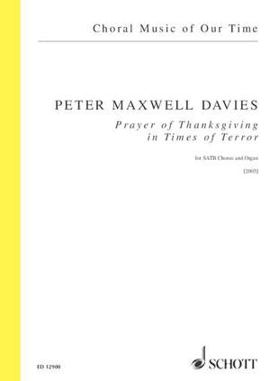 Maxwell Davies, Peter: Prayer of Thanksgiving for Times of Terror