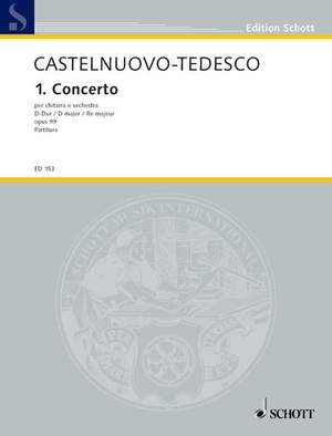 Castelnuovo-Tedesco, M: 1. Concerto in D op. 99 Product Image
