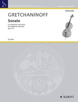 Gretchaninow, A: Sonata op. 113