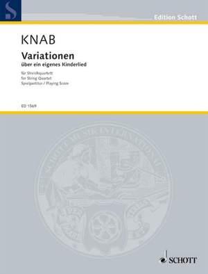Knab, A: Variationen über ein eigenes Kinderlied