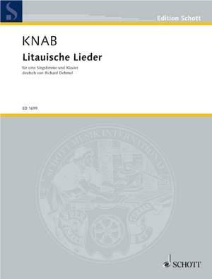 Knab, A: Litauische Lieder