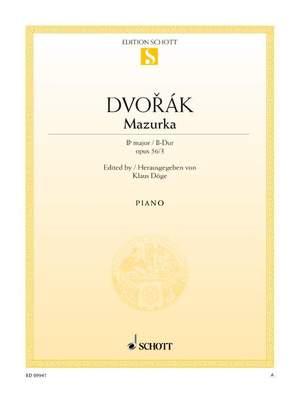 Dvorák, A: Mazurka B-flat major op. 56/3