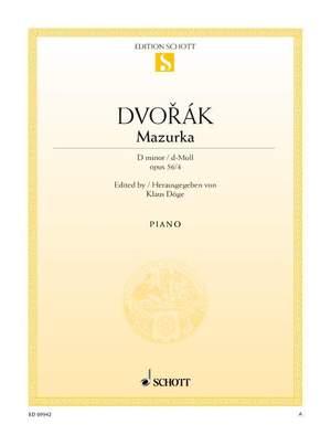 Dvorák, A: Mazurka D minor op. 56/4