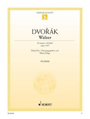 Dvorák, A: Waltz D minor op. 54/7