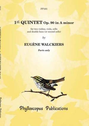 Walckiers: 1st Quintet Op. 90 in A minor - Parts only