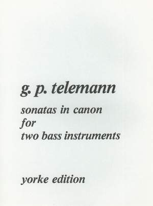 Telemann: Sonatas in Canon for two bass instruments
