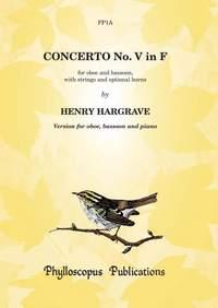 Hargrave: Concerto V in F - Oboe, Bassoon & Piano (Piano reduction & parts)