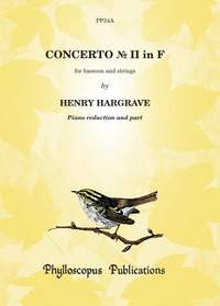 Hargrave: Concerto No. II in F - Piano score and part