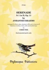 Brahms: Serenade No. 1 in D, Op. 11 - Parts only [2 vln version]